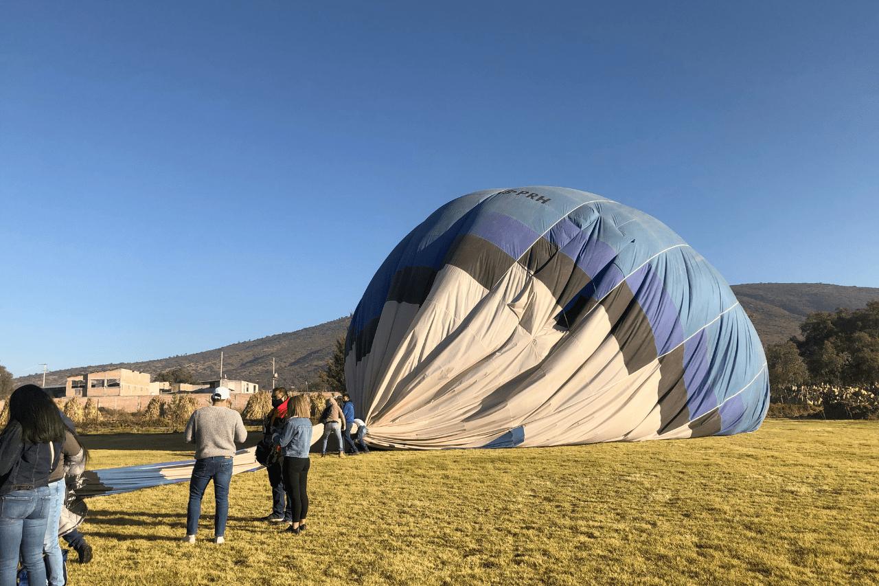 aterrizaje de globo aerostático