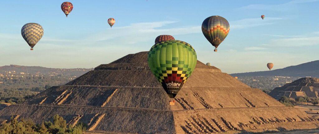 globos volare piramides