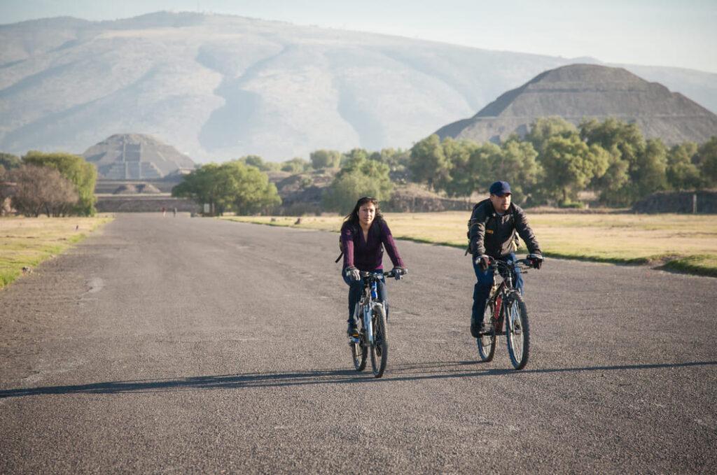 recorrido en bici por teotihuacan